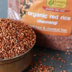 Red Paddy Rice (Chennangi) Unpolished (1 kg.)