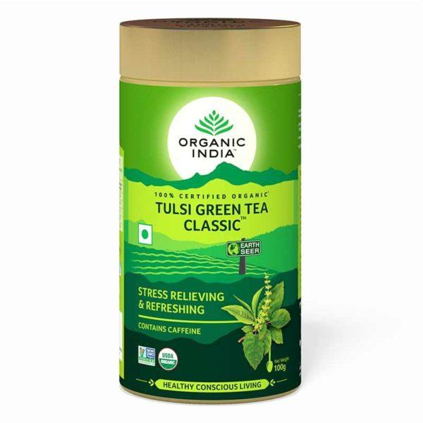 Tulsi Green Tea Classic 100 g Tin