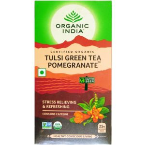 Tulsi Green Tea Pomegranate 25 Tea Bags