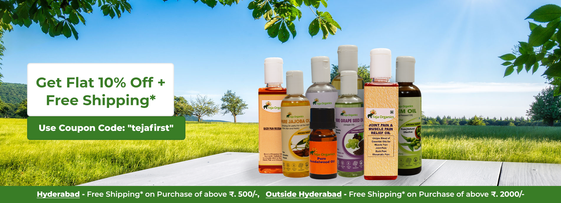 Teja Organics - Carrier Oils